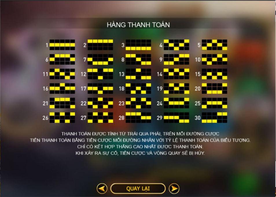 Cách tính đường thắng trong game Lucky Tarot