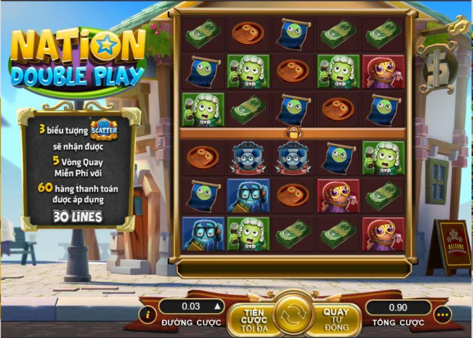 Nation Double game khác biệt với sự phá hủy các biểu tượng chiến thắng sau vòng quay