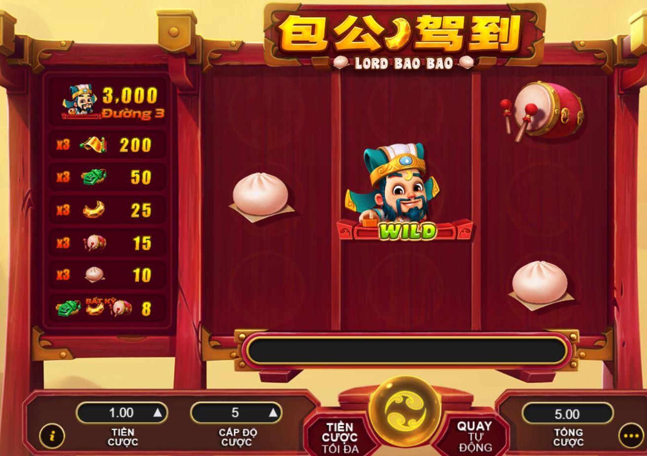 Lord Bao Bao với 5 đường cược x5 chiến thắng