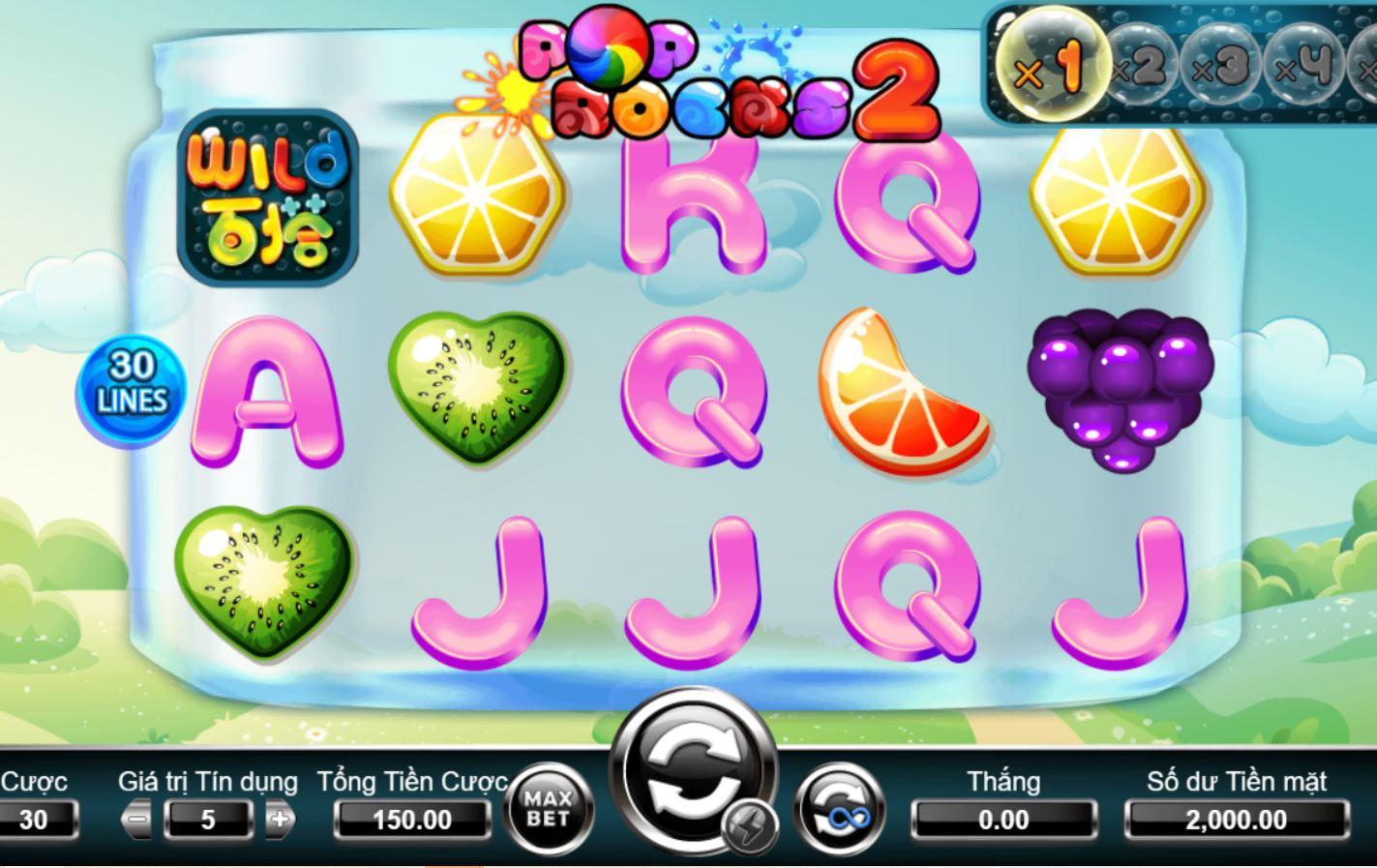 Pop Rock 2 game nổ hũ online hàng đầu, phần thưởng ngẫu nhiên liên tiếp