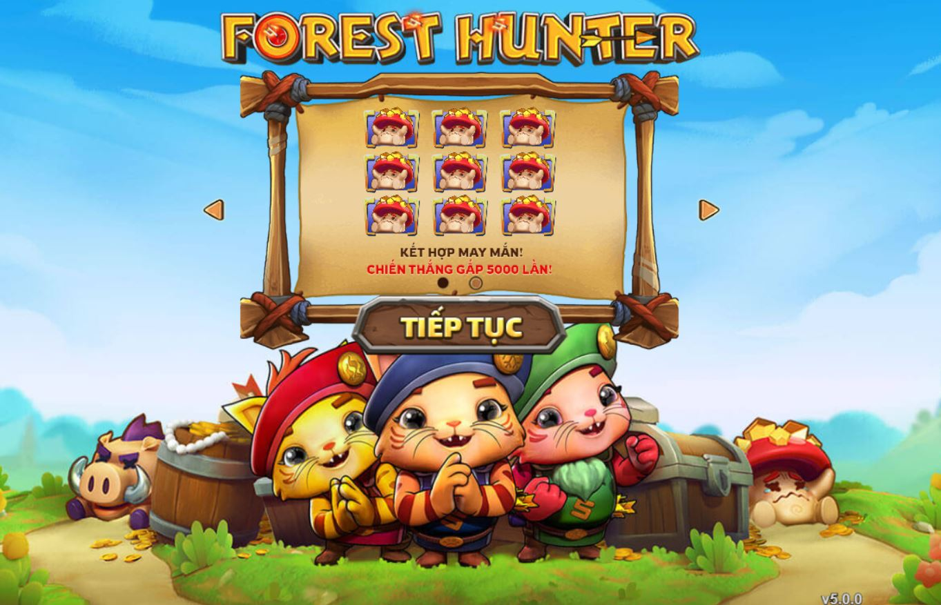 Giao diện slotgame Forest Hunter