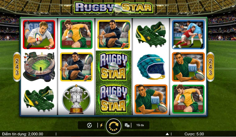 Giới thiệu cách chơi game quay hũ Rugby Star - Ngôi sao bóng bầu dục