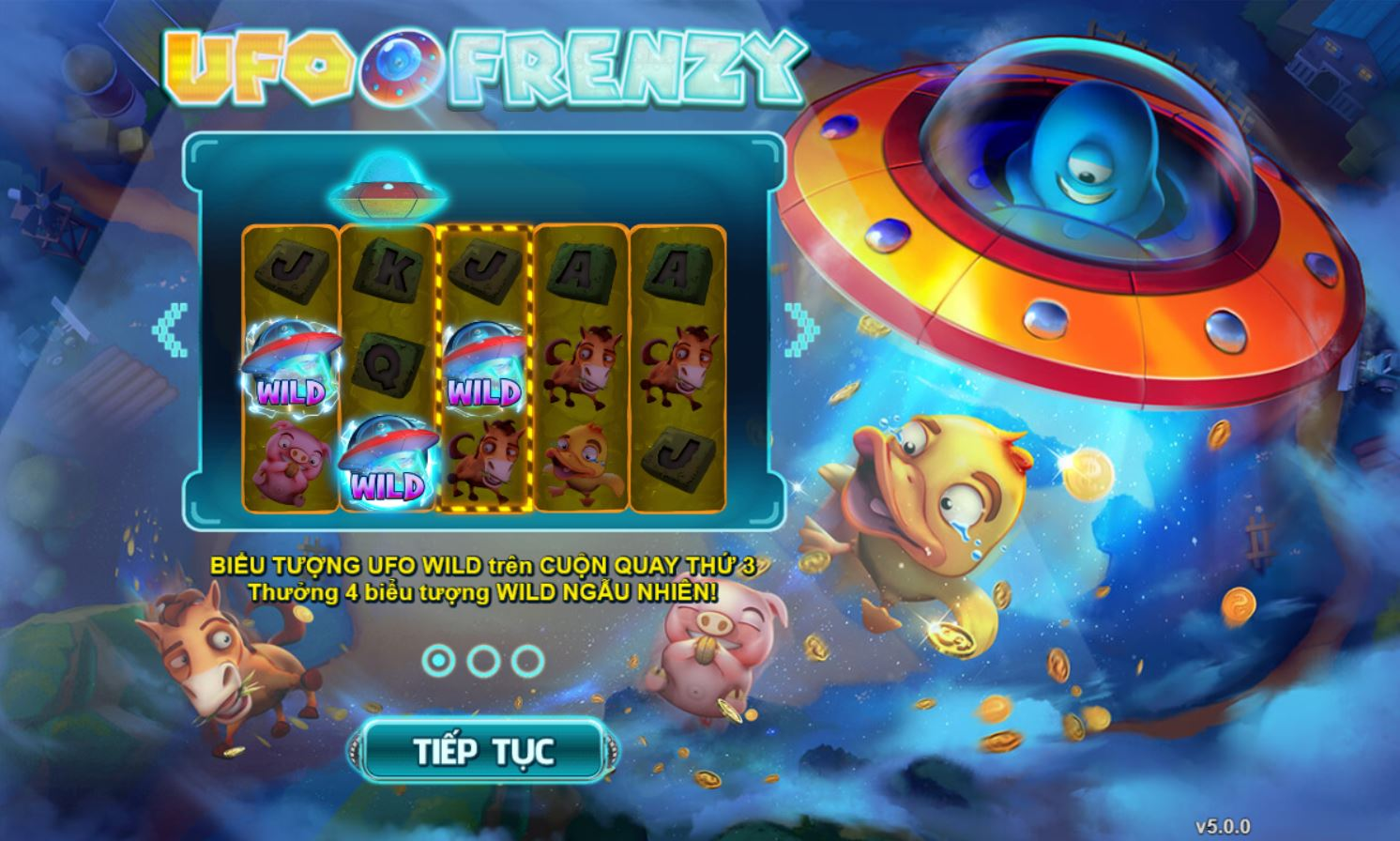 Review những tính năng đặc biệt trong game quay hũ UFO Frenzy