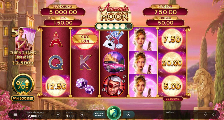 Hướng dẫn chơi game quay hũ Assassin Moon - Sát thủ mặt trăng