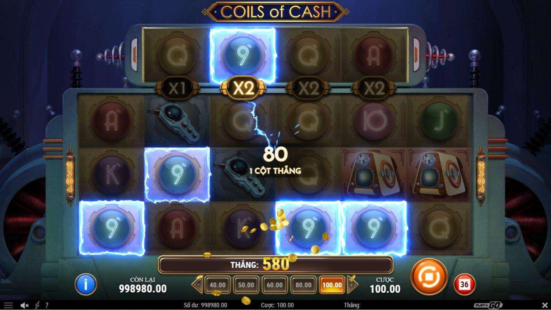 Giới thiệu game quay hũ Coils of Cash - Năng lượng từ những cuộn tiền