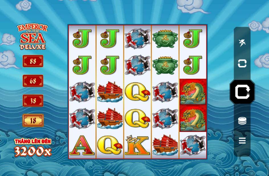 Hướng dẫn chơi game quay hũ Emperor of the Sea Deluxe - Vua biển cả