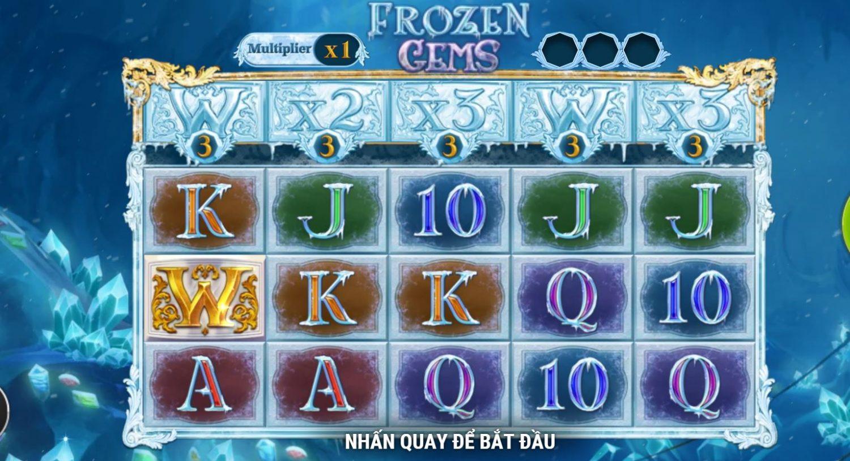 Hướng dẫn chơi game quay hũ Frozen Gems - Đá quý đóng băng