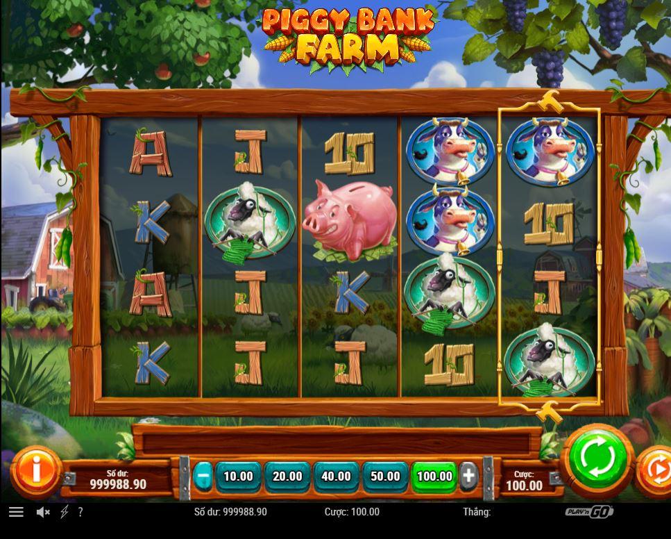 Hướng dẫn chơi game quay hũ Piggy Bank Farm - Trang trại heo đất