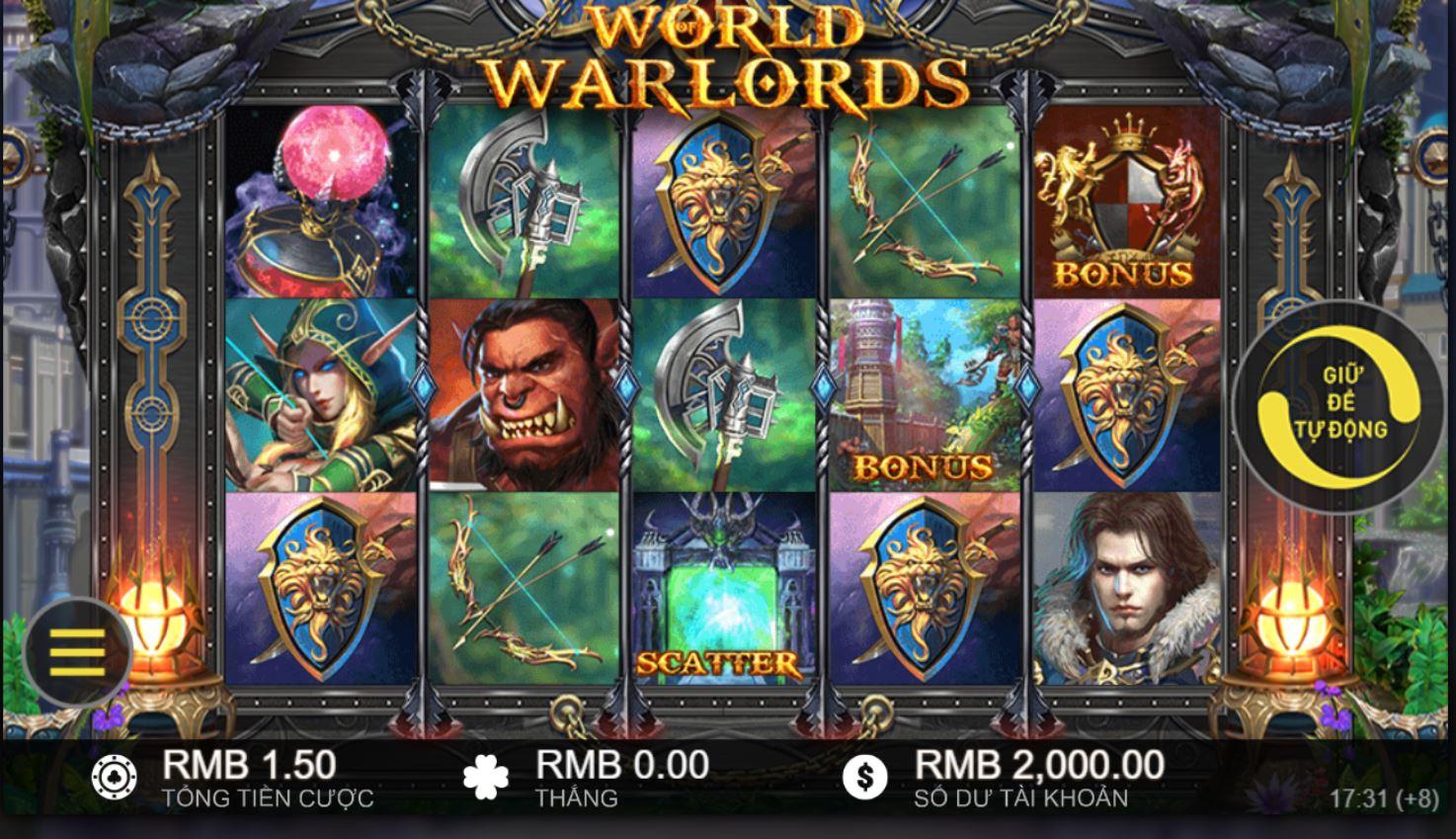 Giới thiệu về game quay hũ World of Warlords - Bá chủ thế giới