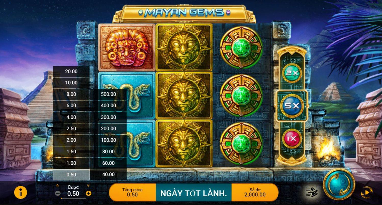 Game quay hũ Mayan Gems - Truy tìm đá quý của người Mayan
