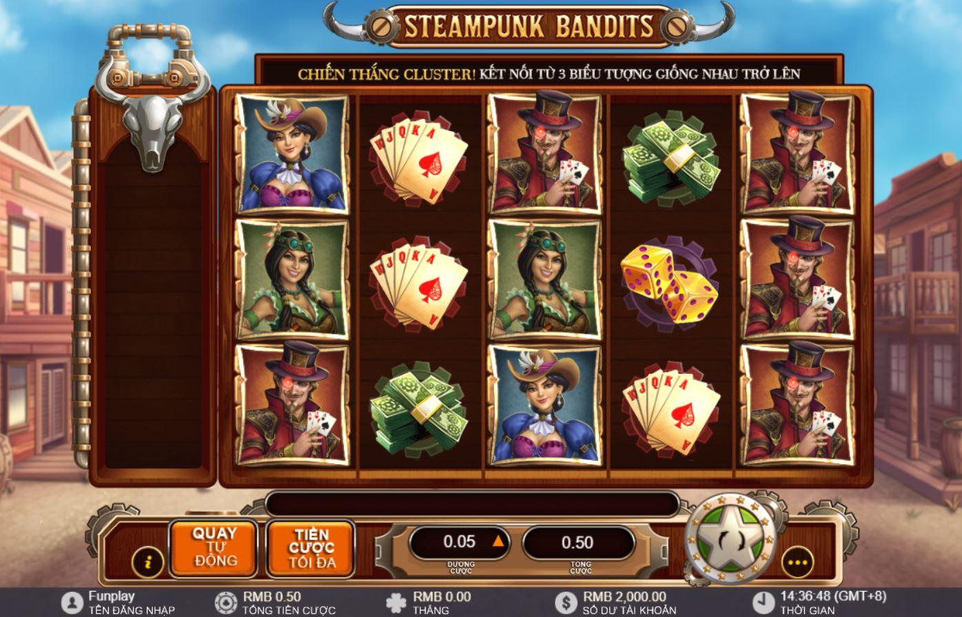 Giới thiệu những tính năng và cách chơi game quay hũ Steampunk Bandits