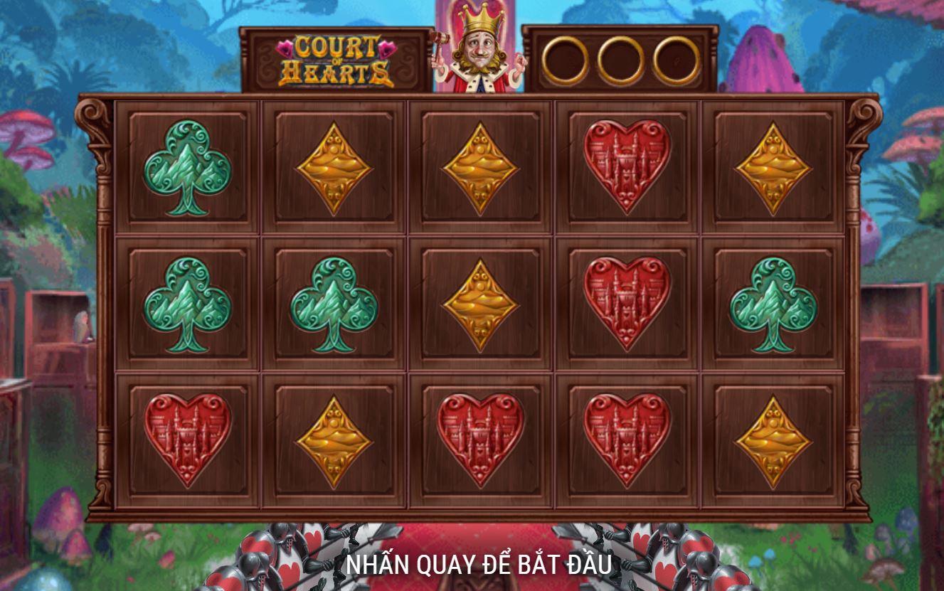 Giới thiệu tính năng game quay hũ Court of Hearts - Phán quyết của trái tim