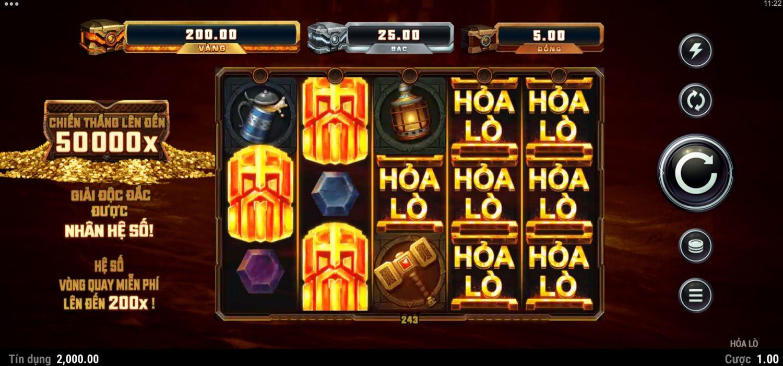 Giới thiệu tính năng và cách chơi game quay hũ Fire Forge - Hỏa lò