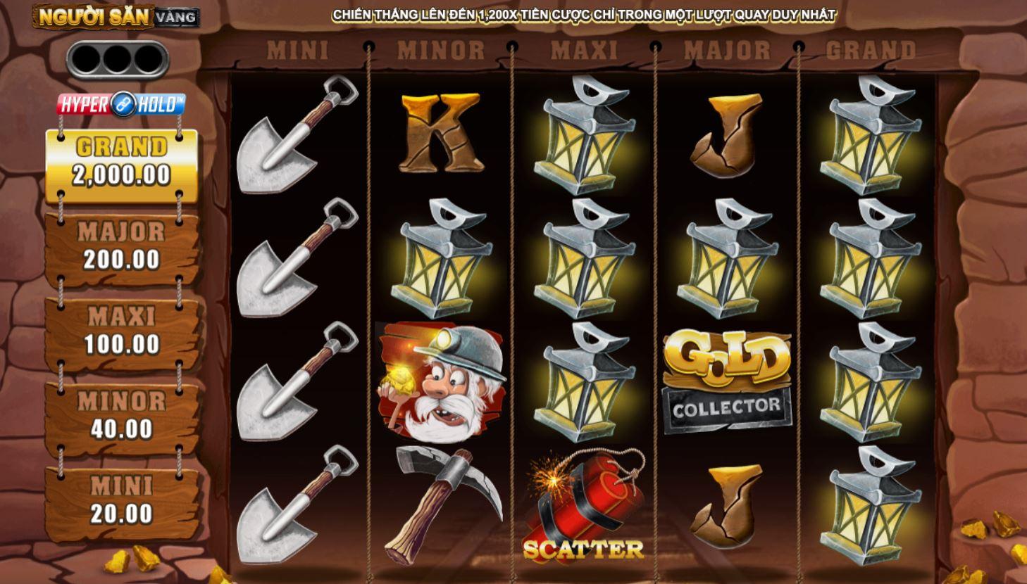 Hướng dẫn cách chơi game quay hũ Gold Collector - Thợ săn vàng