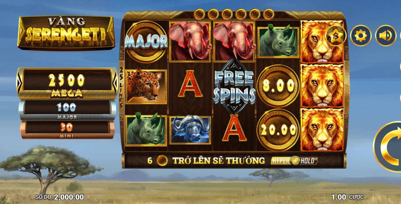 Giới thiệu tính năng và cách chơi game quay hũ Serengeti Gold