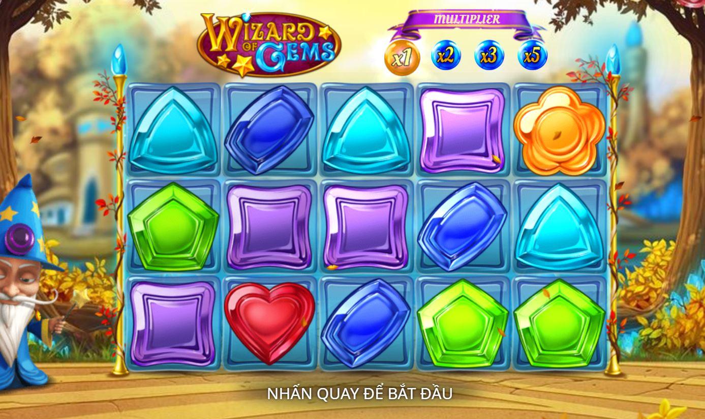 Hướng dẫn cách chơi game quay hũ Wizard of Gems - Phù thủy đá quý
