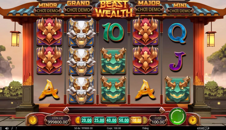 Giới thiệu game quay hũ Beast of Wealth - Kho báu của quái vật