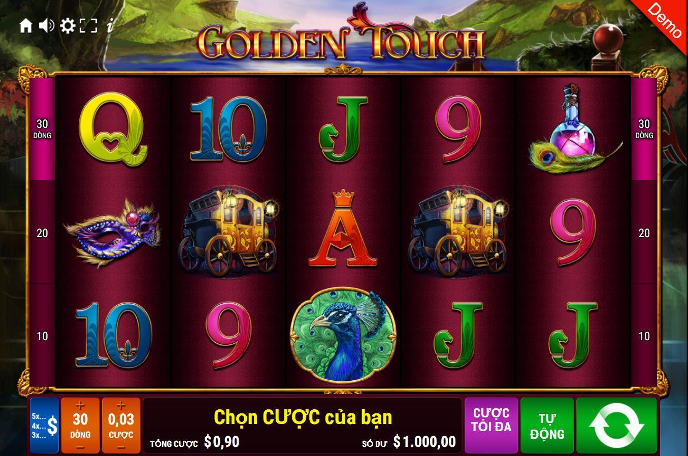 Hướng dẫn cách chơi game quay hũ Golden Touch - Bàn tay vàng