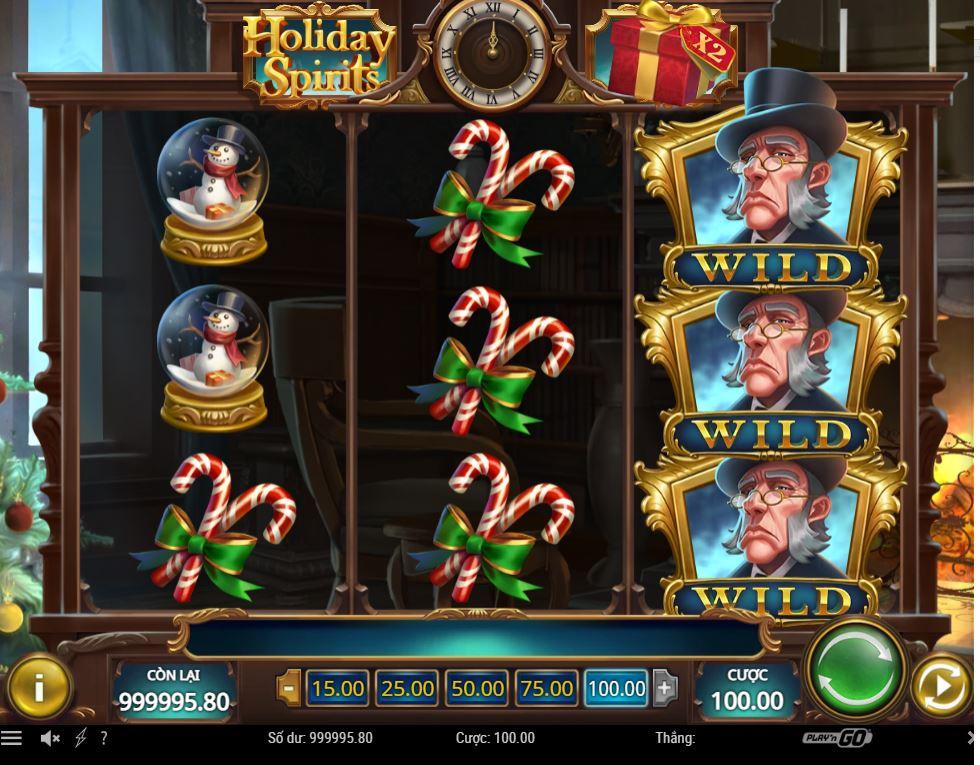 Giới thiệu game quay hũ Holiday Spirits - Lễ hội tinh linh