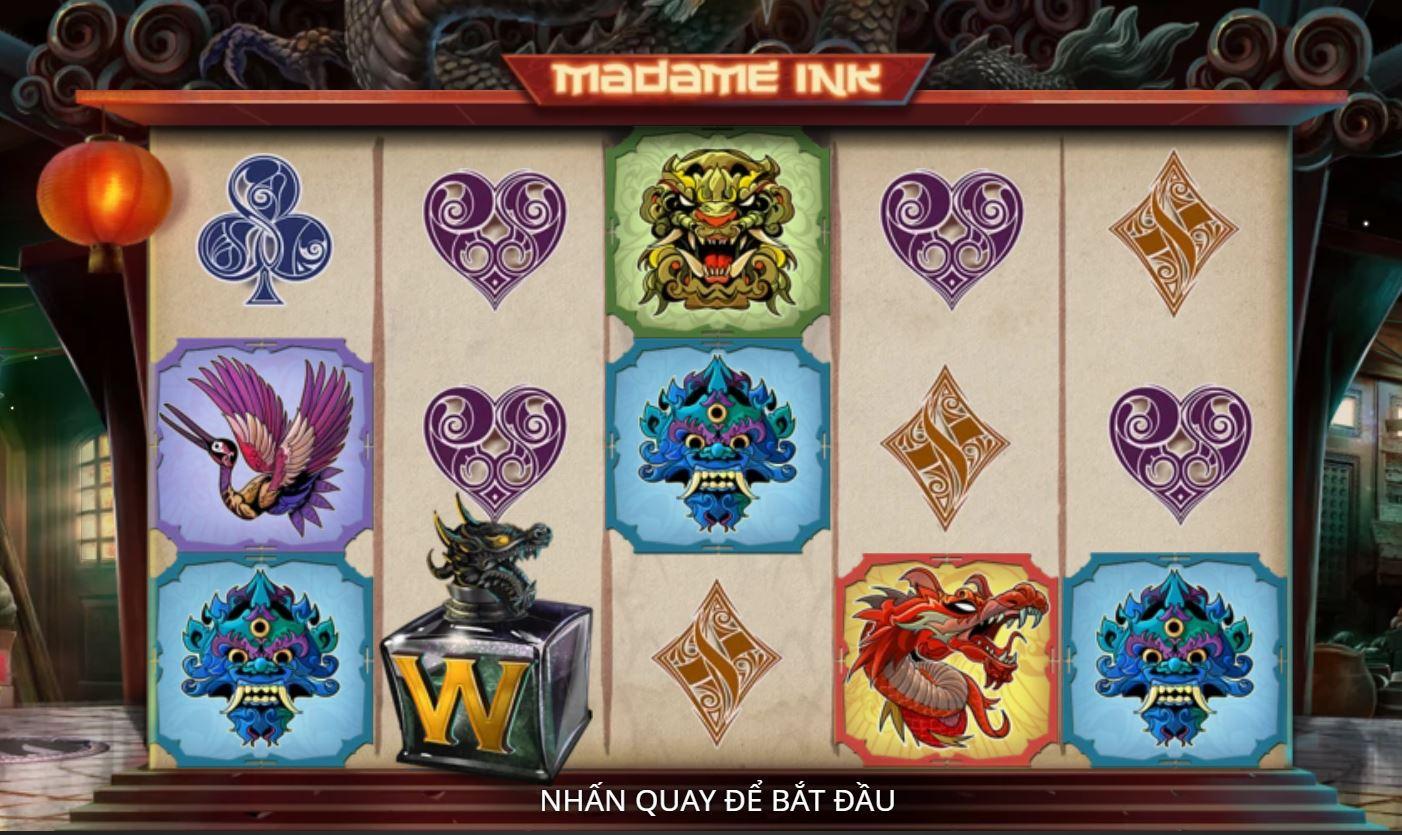 Review những tính năng của game quay hũ Madame Ink - Quý bà Mực