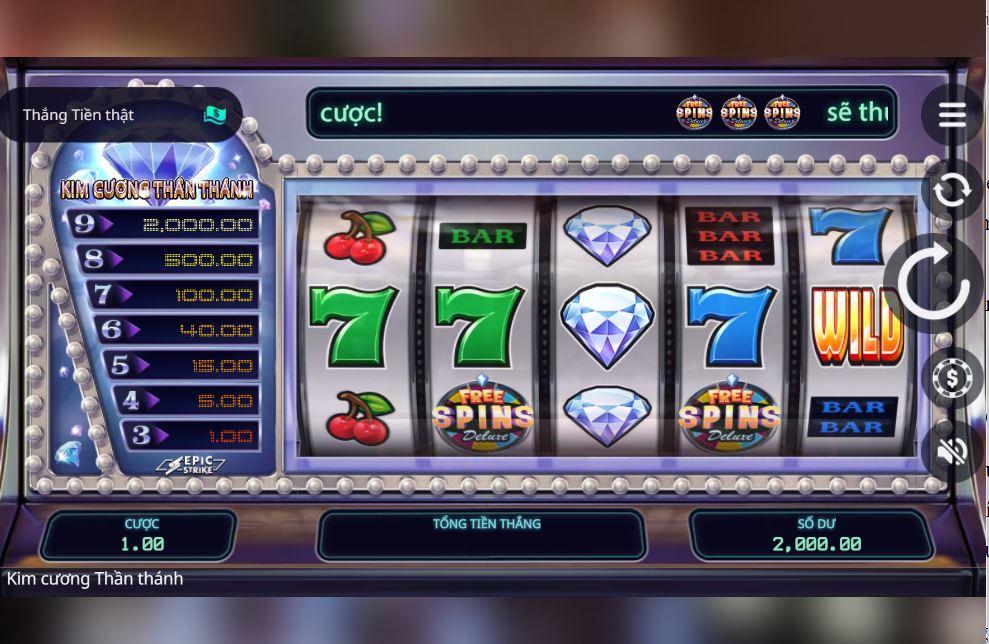 Giới thiệu tính năng game quay hũ Divine Diamonds - Kim cương thần thánh
