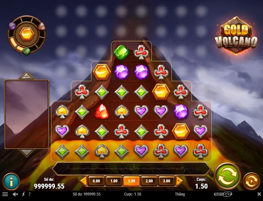Game quay hũ Gold Volcano - Núi lửa vàng may mắn