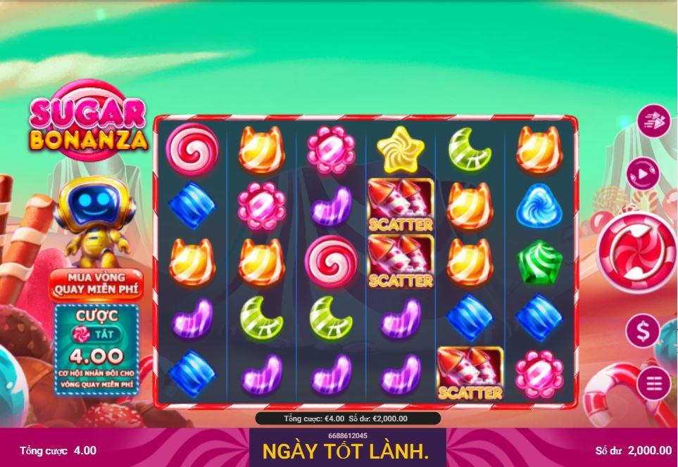 Review tính năng game quay hũ Sugar Bonanza - Kẹo ngọt Bonanza
