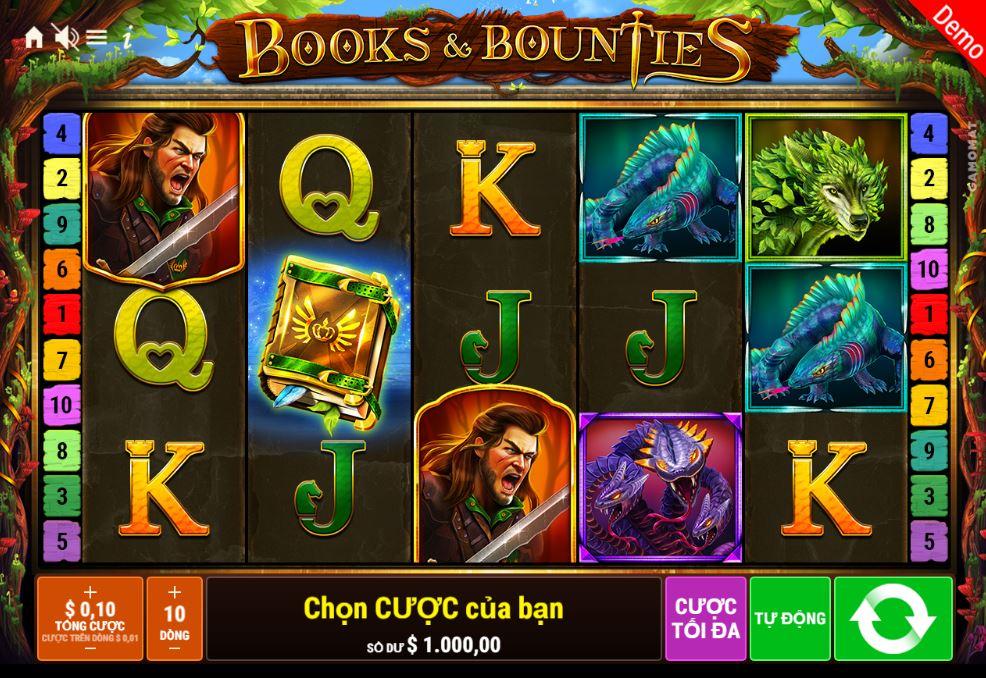 Hướng dẫn cách chơi game quay hũ Books & Bounties