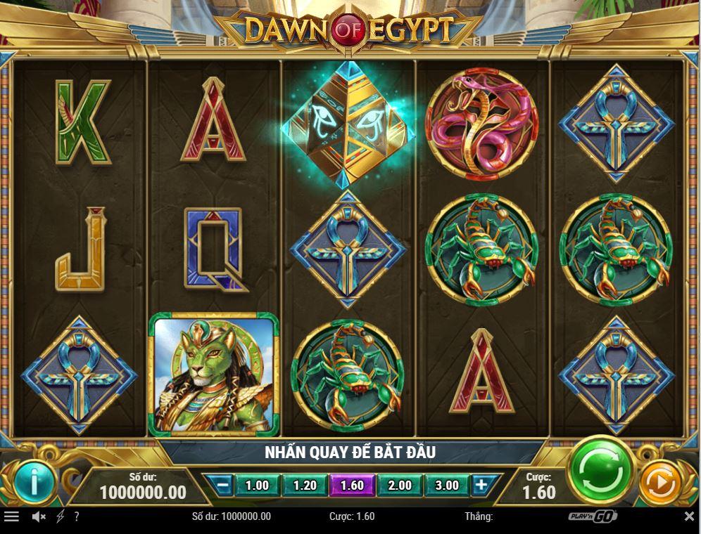 Giới thiệu cách chơi game quay hũ Dawn of Egypt - Bình minh của Ai Cập